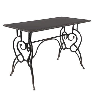 Stół DISTRESSED metalowy, czarny, gięty, toaletka, konsola, biurko