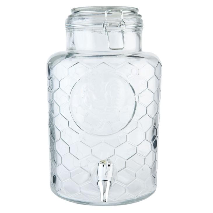 Słoik z kranikiem na lemoniadę szklany 5.3 L Clayre & Eef 6GL1928