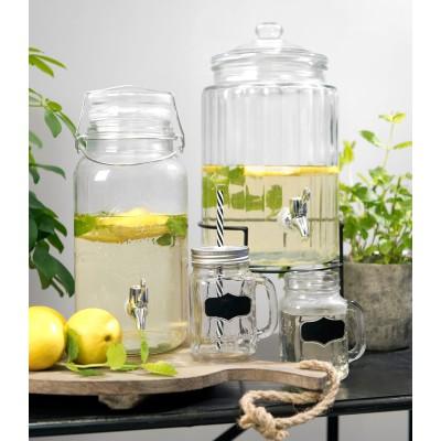 Słoik z kranikiem na lemoniadę szklany 5.3 L