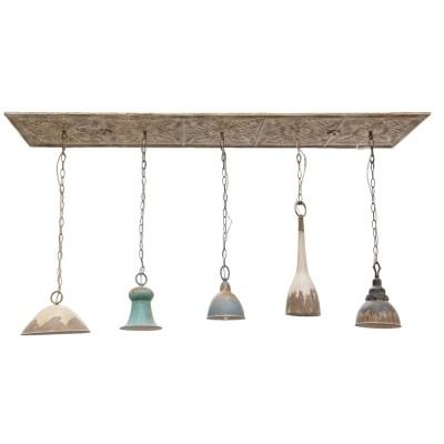 Lampa wisząca z 5 abażurami