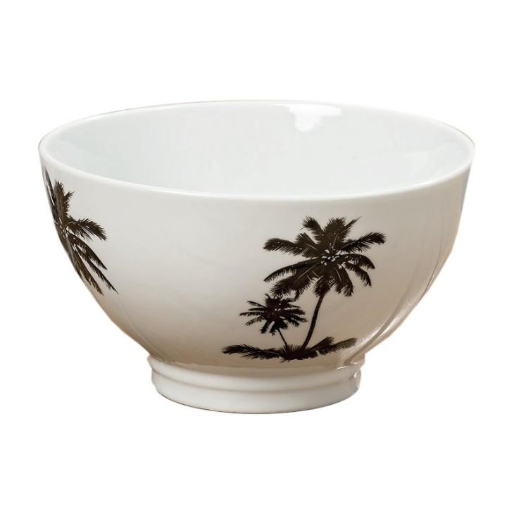 Półmisek dekoracyjny biały ceramiczny PALMSPRINGS 1 Boltze 1006246A