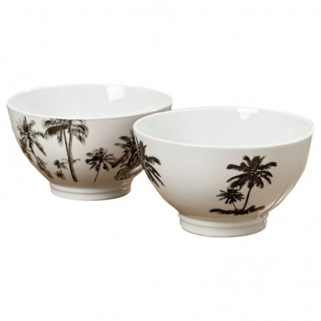 Półmisek dekoracyjny biały ceramiczny PALMSPRINGS 1