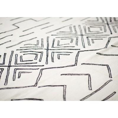 Dywan bawełniany AZTEC ecru-czarny 160x230cm