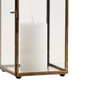 Lampion metalowy BRASS, latarnia stojąca, wisząca, złota, lampion ogrodowy