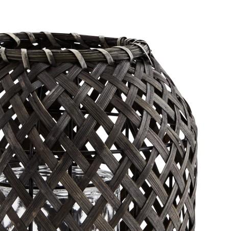 Lampion bambusowy NOIR, latarnia ogrodowa czarna