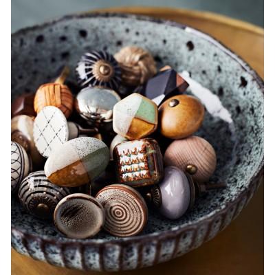 Gałka do mebli BEIGE ceramiczna beżowo- brązowa