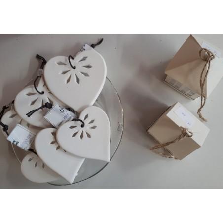Ozdoba świąteczna SERCE ceramiczne 8 cm
