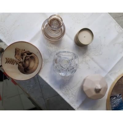 Cukierniczka ceramiczna kremowa GEOMETRIC