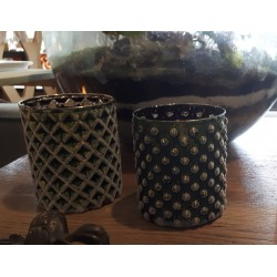 Lampion szklany ozdobny RHOMBUS