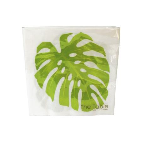 Serwetki papierowe z liściem MONSTERY