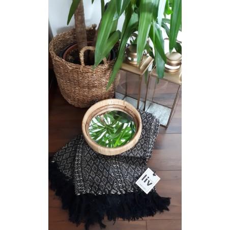 Lustro wiszące BAMBOO okrągłe, bambusowe 30 cm