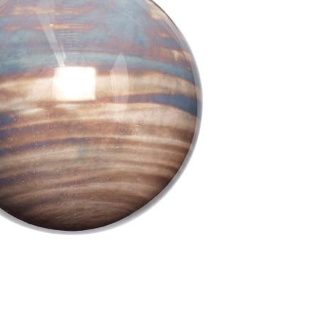 Bombki choinkowe DUSTY zestaw 2 sztuki szklane fioletowe beżowe