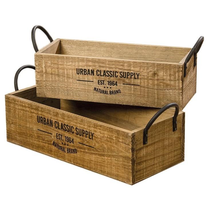 Skrzynki ozdobne drewniane SUPPLY Zestaw Boltze 1009549
