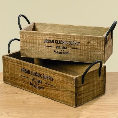 Skrzynki ozdobne drewniane SUPPLY Zestaw