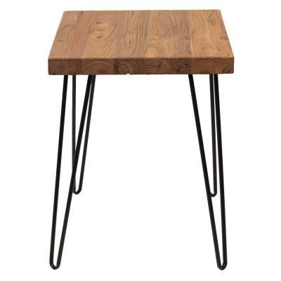 Stolik drewniany, metalowy...