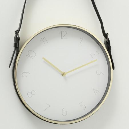 Zegar ścienny na pasku DEXTER GOLD złoty