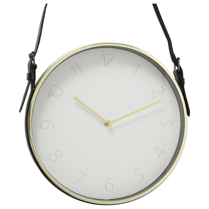 Zegar ścienny na pasku DEXTER GOLD złoty Boltze 1009460