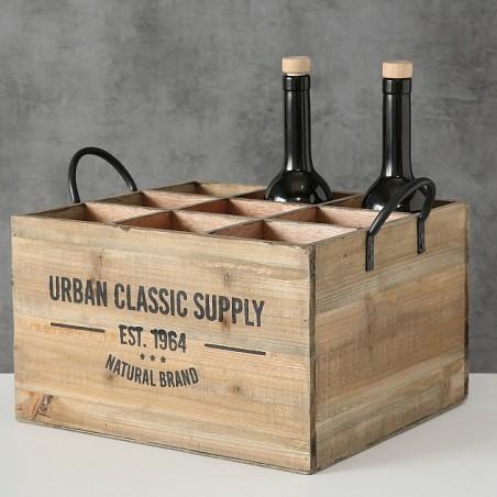 Drewniana skrzynka na wino, pojemnik na wino SUPPLY