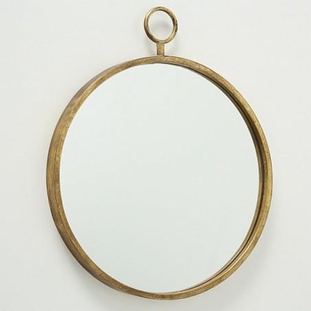 Lustro metalowe PRADO antyczne złoto 55 cm