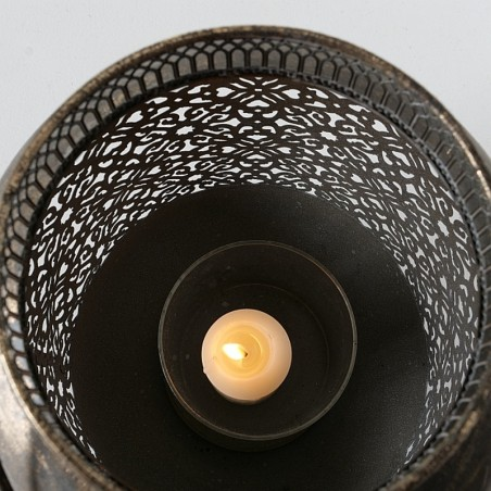 Lampiony metalowe SLIGO, zestaw dwie sztuki