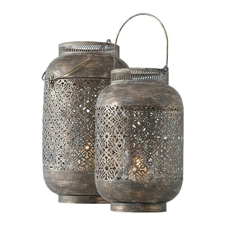 Lampiony metalowe SLIGO, zestaw dwie sztuki Boltze 1007544