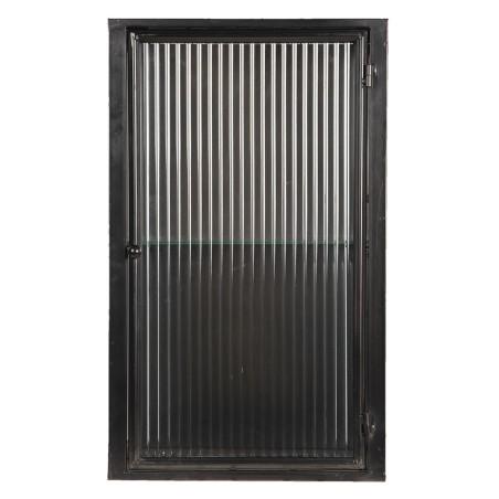 Szafka metalowa wisząca INDUSTRIAL, szklana witryna