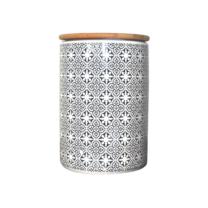 Pojemnik ceramiczny TILES 14 cm z hiszpańskim wzorem Boltze 1005966.1
