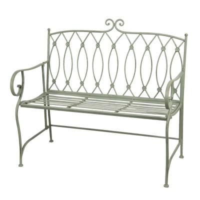 Ławka metalowa GREEN, miętowa ławka ogrodowa