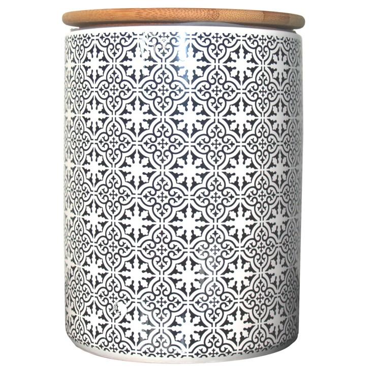 Pojemnik ceramiczny TILES 19 cm z hiszpańskim wzorem Boltze 1005966.3