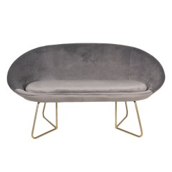 Sofa VELVET GREY, velour,...