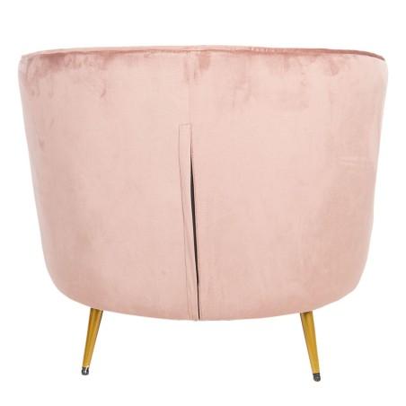Fotel GLAMOUR welurowy, pudrowy róż, fotel do sypialni