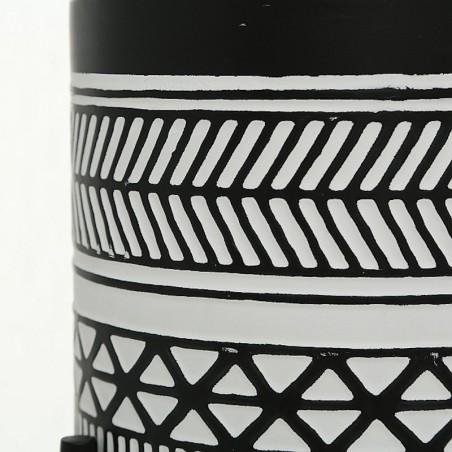 Kwietnik stojący boho czarno-biały BAHIA XL