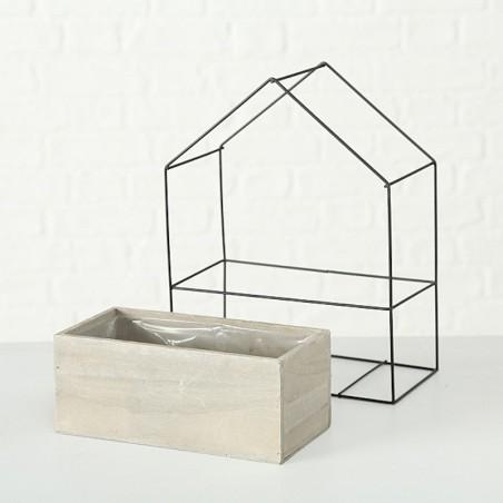 Doniczka drewniana DOMEK XL