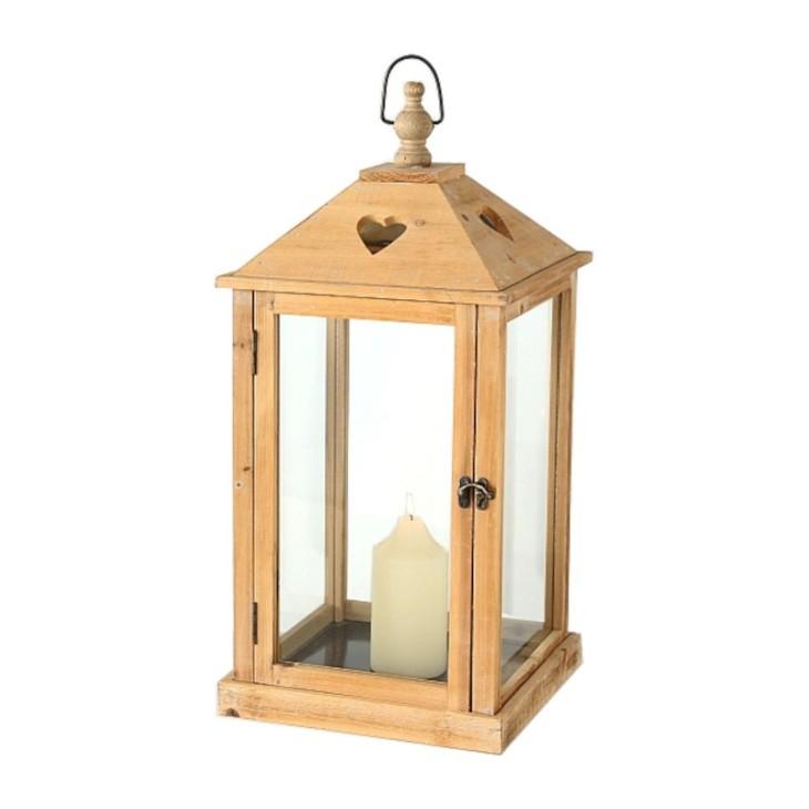 Latarnia drewniana BOZEN XL z sercem Boltze 3066700.1
