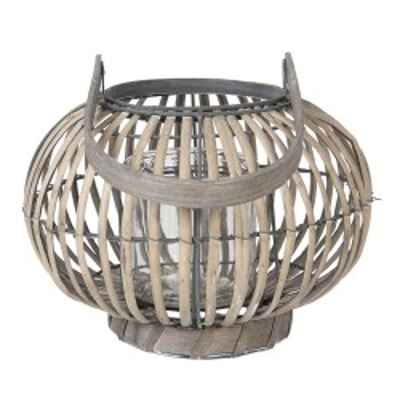Lampion drewniany BERGAMO,...