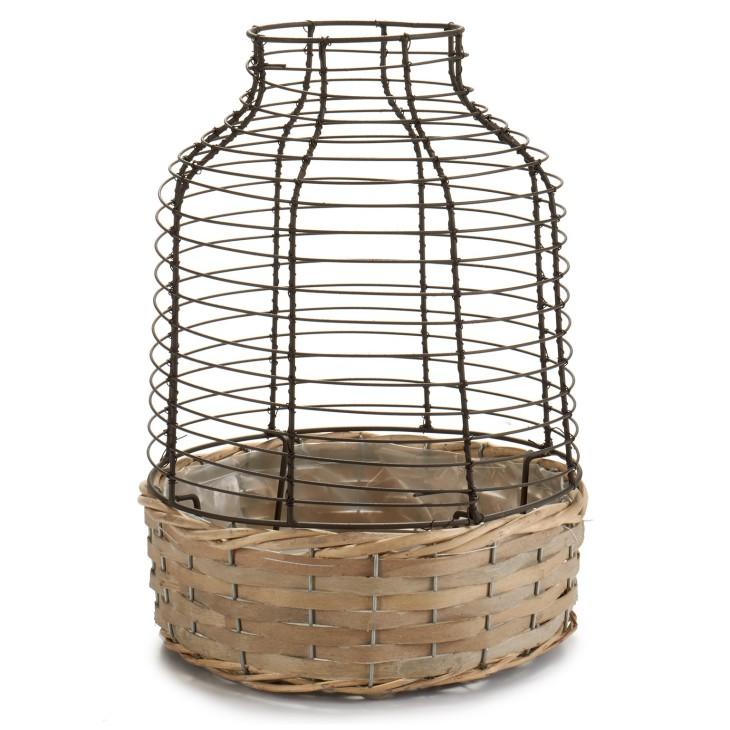 Donica wiklinowa z metalowym koszykiem VINTAGE Arte Regal 22849
