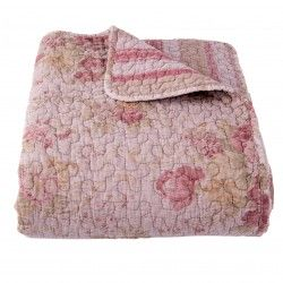 Narzuta na łóżko różowa w...