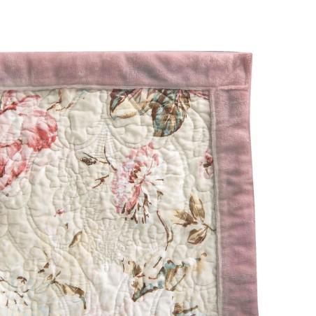 Narzuta na łóżko pudrowy róż dwustronna 180 x 260 z dwiema poszewkami na poduszkę 40 x 40