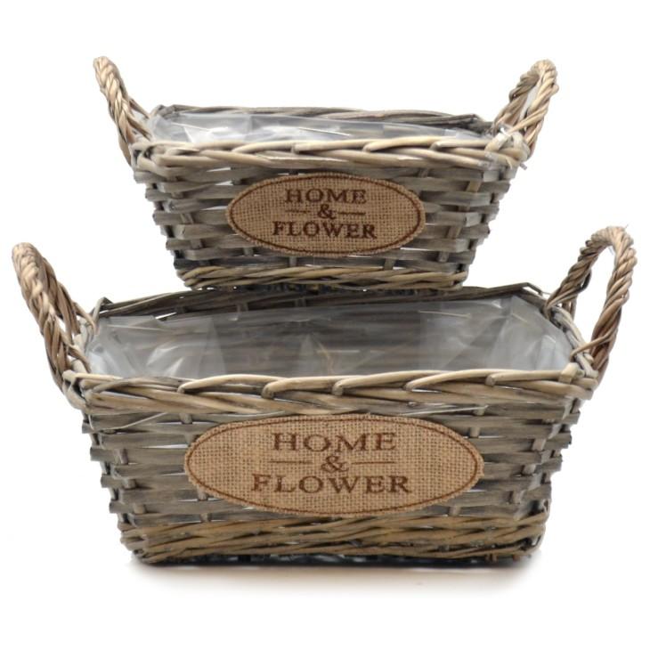 Doniczki Wiklinowe Kosze Home Flower Zestaw 2szt Arte Regal