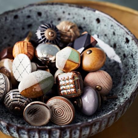 Gałka do mebli ceramiczna szara
