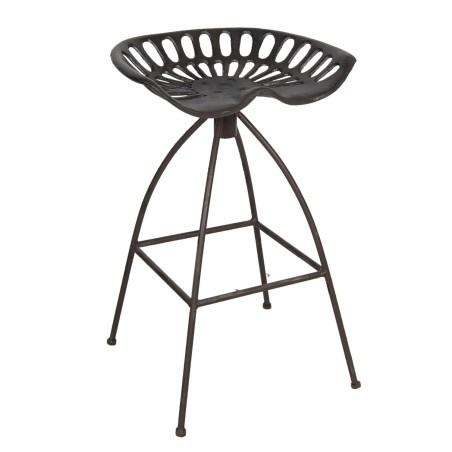 Krzesło barowe industrialne metalowe brązowe