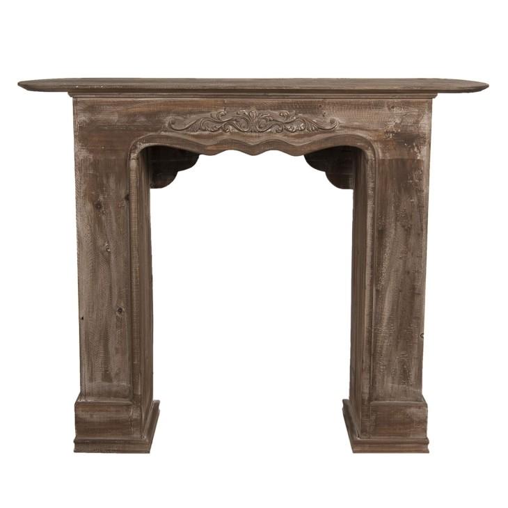 Portal kominkowy drewniany, obudowa kominka Clayre & Eef 5H0380B