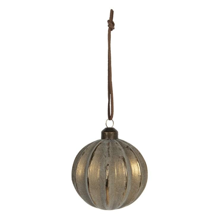 Bombka choinkowa złota postarzana Clayre & Eef 6GL2717