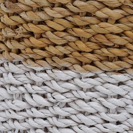 Doniczka z trawy morskiej biała SEAGRASS M