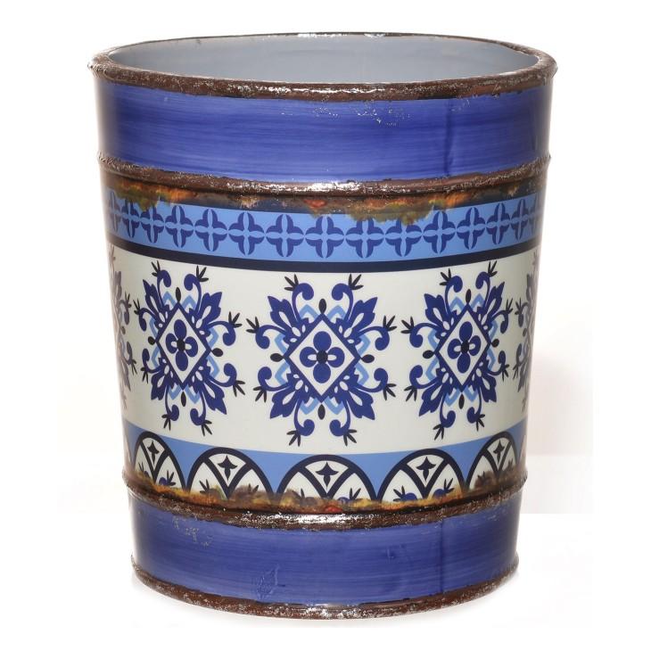 Donica ceramiczna w stylu hiszpańskim II- kolor niebieski Giftdecor 47718