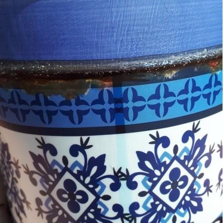 Donica ceramiczna w stylu hiszpańskim II- kolor niebieski