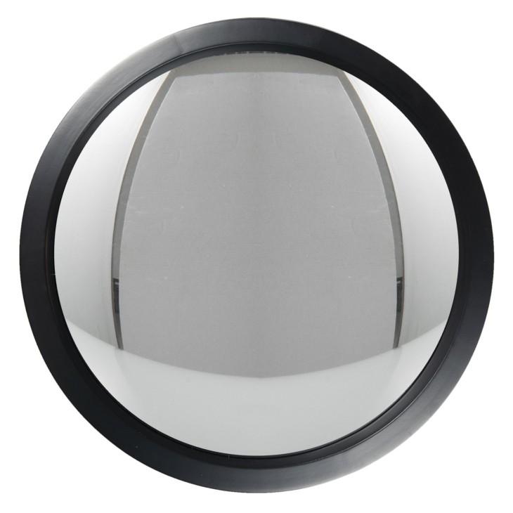 Lustro wiszące okrągłe drewniane czarne SCANDI Clayre & Eef 62S212