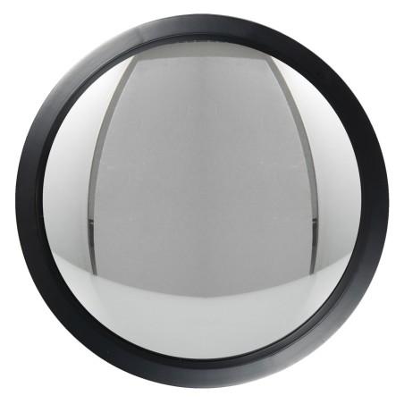 Lustro wiszące okrągłe drewniane czarne SCANDI