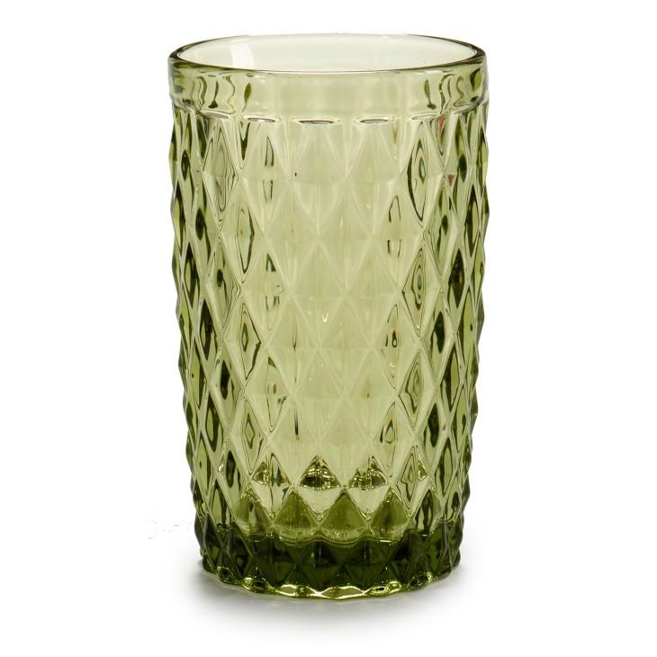 Szklanka z grubego szkła zielona Arte Regal 24395