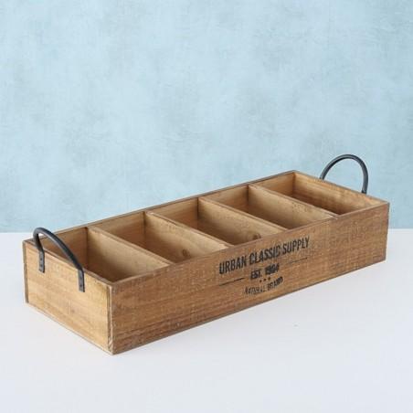 Skrzynka ozdobna drewniana SUPPLY z przegrodami 55 cm